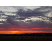 Naracoorte sunset 11/11/11 Photographic Print
