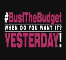 Bust The Budget - T-shirt - pink by 3wisedonks