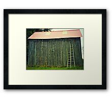Barn with Ladders Framed Print