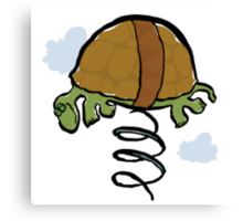 the pogo turtle Canvas Print