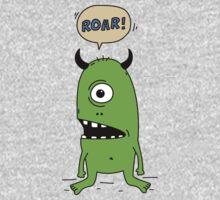 Roar! Monster! One Piece - Short Sleeve