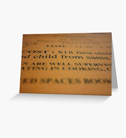 Please take my word for it. Greeting Card