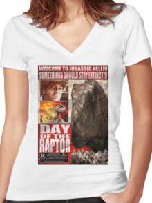 Day of the Raptor Women's Fitted V-Neck T-Shirt