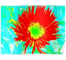 Rote Blume Poster