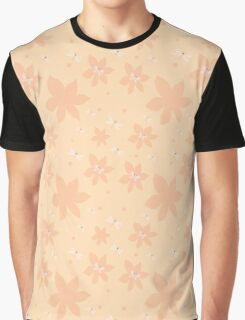 Coral pale pink white flowers and butterflies Graphic T-Shirt
