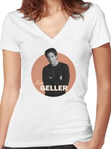 Ross Geller - Friends Women's Fitted V-Neck T-Shirt