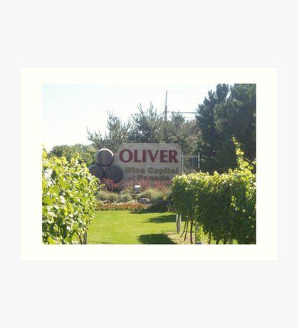 Oliver: Wine Capital of Canada Art Print