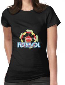 Brasil Futebol 14 shir Womens Fitted T-Shirt