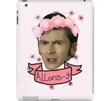 Tenth Doctor Flower Crowns iPad Case/Skin