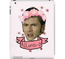 Tenth Doctor Flower Crowns iPad Case/Skin