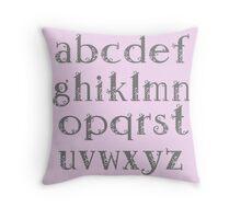 Girly alphabet Throw Pillow