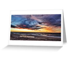 Sunset over the Indian Ocean Greeting Card
