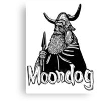 Moondog linocut Canvas Print