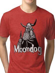 Moondog linocut Tri-blend T-Shirt