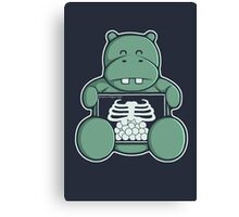 The Hippo who was hungrier Canvas Print