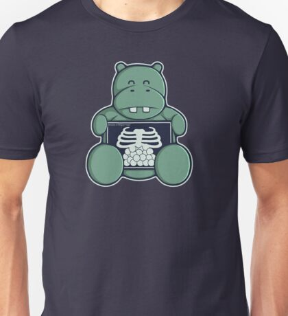 The Hippo who was hungrier Unisex T-Shirt