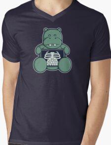 The Hippo who was hungrier Mens V-Neck T-Shirt
