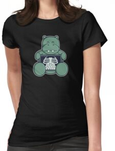The Hippo who was hungrier Womens Fitted T-Shirt