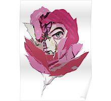 Rose pink eye flower Poster