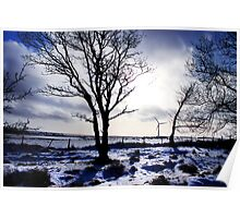Winter snow Scottish landscape Poster