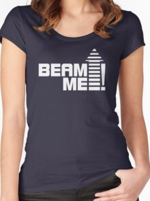 Beam me up V.1 (white) Women's Fitted Scoop T-Shirt