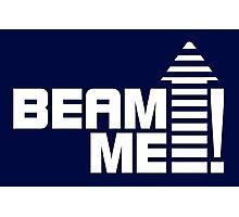 Beam me up V.1 (white) Photographic Print