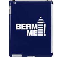 Beam me up V.1 (white) iPad Case/Skin
