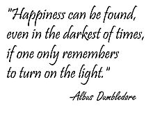 Albus Dumbledore Quote by laurenpears