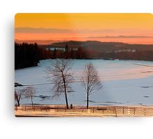 Amazing winter wonderland sundown | landscape photography Metal Print
