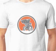 Front End Loader Digger Excavator Circle Retro Unisex T-Shirt