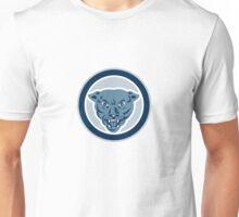 Black Cat Panther Growl Head Circle Unisex T-Shirt