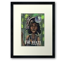 The Blaze Comic Cover Framed Print