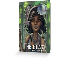 The Blaze Comic Cover Greeting Card