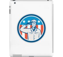 American Soldier Salute Flag Circle Retro iPad Case/Skin