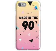 Made in the 90s iPhone Case/Skin
