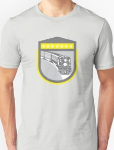 Steam Train Locomotive Retro Shield Unisex T-Shirt