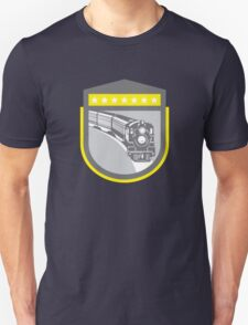 Steam Train Locomotive Retro Shield T-Shirt