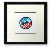 Diesel Train American Stars Stripes Retro Framed Print