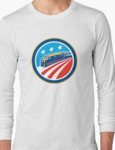 Diesel Train American Stars Stripes Retro Long Sleeve T-Shirt