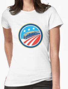 Diesel Train American Stars Stripes Retro Womens Fitted T-Shirt