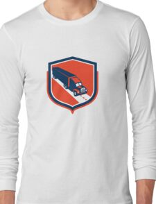 Container Truck and Trailer Shield Retro Long Sleeve T-Shirt