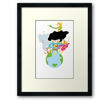 superman heals the world Framed Print