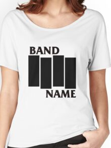Band Name - Black Flag Parody Women's Relaxed Fit T-Shirt