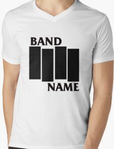 Band Name - Black Flag Parody Mens V-Neck T-Shirt