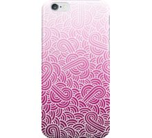 Ombre pink and white swirls zentangle iPhone Case/Skin