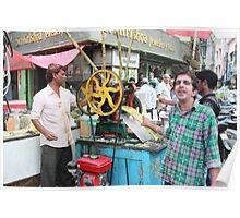 Cane Juice Vendors Begum Bazaar Poster