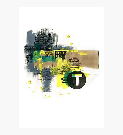 Yellow Taxi Photographic Print