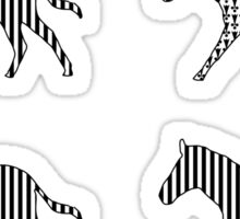 Zebra; Be Different Sticker