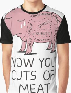 Vegan T-shirt - Know Your Cuts of Meat  Graphic T-Shirt
