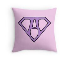 Super girl Throw Pillow